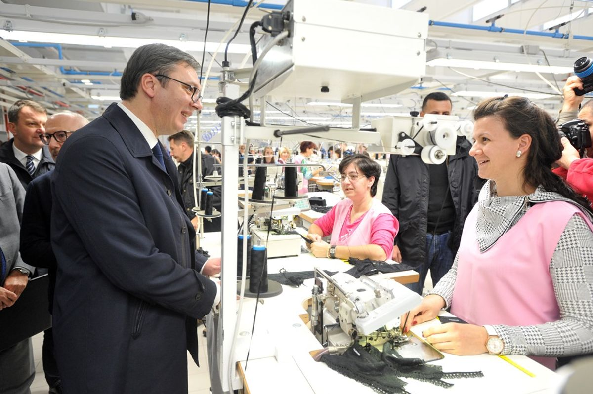 Председник Вучић на свечаном отварању производног погона групе Калцедонија у Кули
